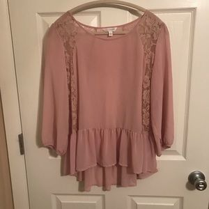 Light pink lacy blouse
